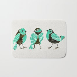 Turquoise Finches Bath Mat
