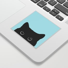 Black cat I Sticker