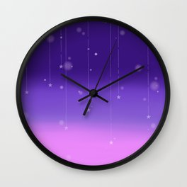 Wish Upon A Falling Star Wall Clock