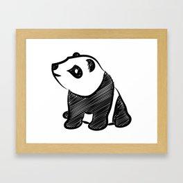 Gothic Panda  Framed Art Print
