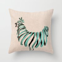 chicken Throw Pillows featuring Chicken by Claire.H