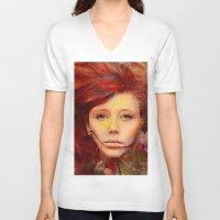 irish V-neck T-shirts featuring Irish fairy by Ganech joe