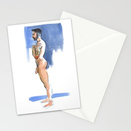 JUSTIN, Nude Male by Frank-Joseph Stationery Cards