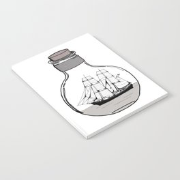 The ship in the glass bulb . Art . Notebook