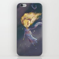 the little prince iPhone & iPod Skins featuring Little Prince by QatatoPRINTS