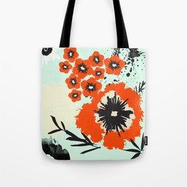 Asian Floral Modernized Tote Bag