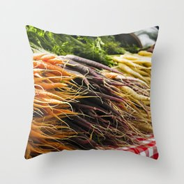 Market Carrots Throw Pillow