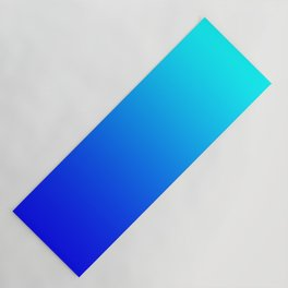 Aqua Blue Bright Ombre Yoga Mat