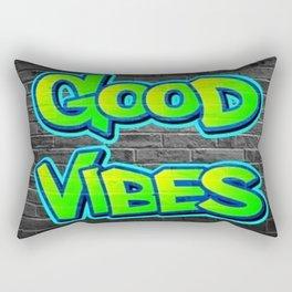 Good Vibes Graffiti Rectangular Pillow