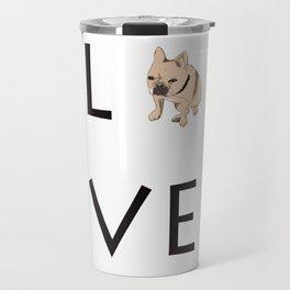 French Bulldog Love Print Travel Mug