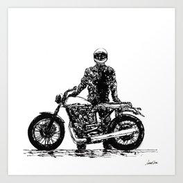Rider 7 RAW Art Print