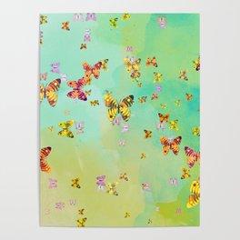 Butterflies on springtime Poster
