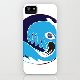 Waveboarder Smiley iPhone Case