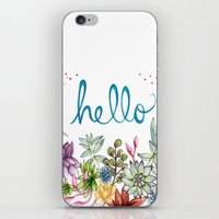 spring iPhone & iPod Skins featuring hello spring by Brooke Weeber