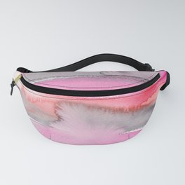 13      191215   Abstract Watercolor Pattern Painting Fanny Pack