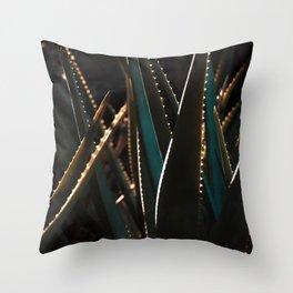 Golden Hour Cactus Throw Pillow