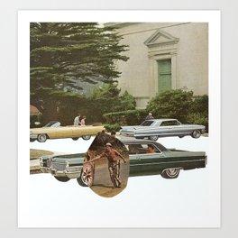 turning wheels Art Print