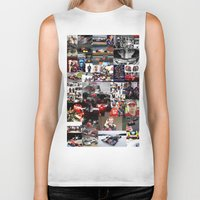 formula 1 Biker Tanks featuring Formula 1 Collage by Rassva