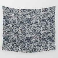 lanterns Wall Tapestries featuring Lanterns by Let it Rain