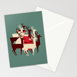 Deer Santa Stationery Cards