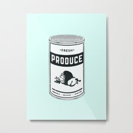 Fresh Canned Produce Metal Print