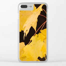 Yellow maple leaves Clear iPhone Case