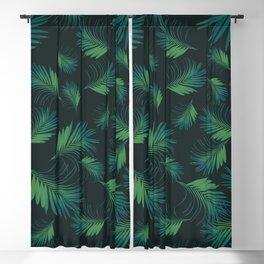 Tropical Night Palms Pattern #1 #tropical #decor #art #society6 Blackout Curtain