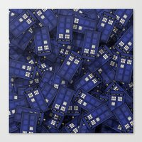 doctor who Canvas Prints featuring Tardis by 10813 Apparel