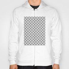 White Kawung Pattern Hoody