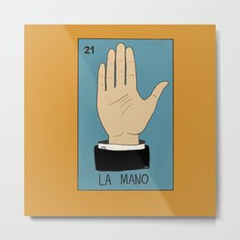 La Mano Card (Traditional) Metal Print