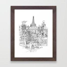 Paris! B&W Framed Art Print