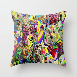 Dogs, DOGS, DOGS!! Throw Pillow