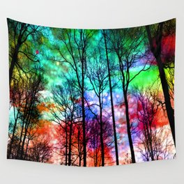 colorful abstract forest Wall Tapestry