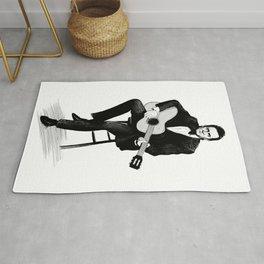 Johnny Cash Dark Ink Rug