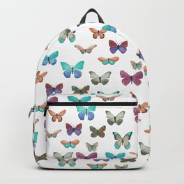Butterfly pattern in blue, orange & pink Backpack