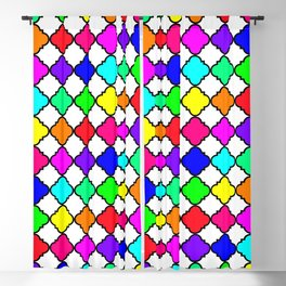 Rainbow Quatrefoil No.1 Blackout Curtain