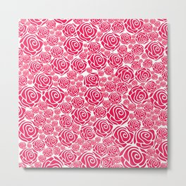 Pink Rose Nation Metal Print