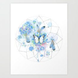 Dreamcatcher No. 1 - Butterfly Illustration Art Print