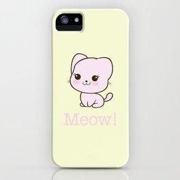 Pastel Kitten Kawaii iPhone Case