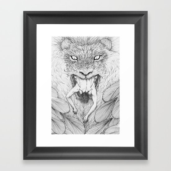 The Giant Winged Lion Framed Art Print