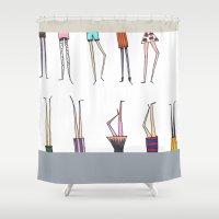 legs Shower Curtains featuring Legs! by Pattes De Mouche
