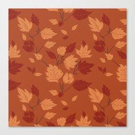 Fall foliage pattern Canvas Print
