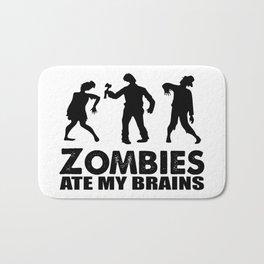 zombies ate my brains Bath Mat