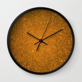 Topaz Orange Sparkling Jewels Pattern Wall Clock