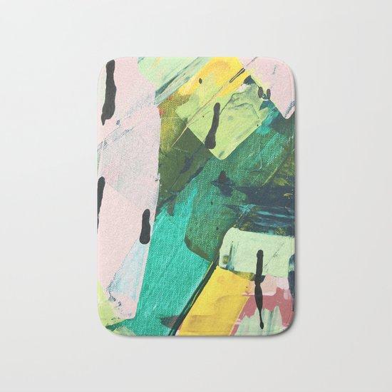 Hopeful[4] - a bright mixed media abstract piece Bath Mat