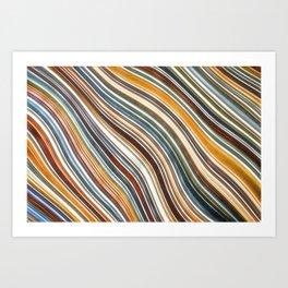 Wild Wavy Lines 05 Art Print