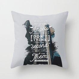 Sherlock - Angels Throw Pillow