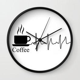 Cardiac Coffee Wall Clock