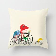 Bike is Life Throw Pillow