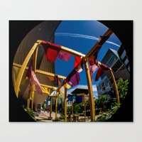 fabric Canvas Prints featuring Fabric by Michelle Chavez